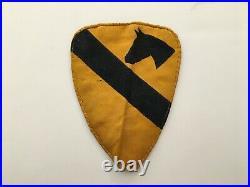 Pk121 Original Korean War US Army 1st Cavalry Division Patch Silk Woven WB11