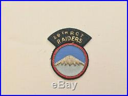 Pk213 Original Korean War Era US Army 29th RCT Raiders Patch WA10
