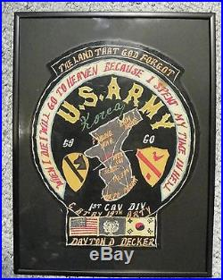 Post Korean War Blood Chit Jacket Patch 59 60 THIS IS A BIG 1