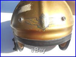 Post-Korean War US Navy H-4 Flight Helmet Size Large MFG Gentex Named 1950s