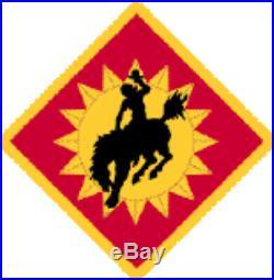 Post WW2 M1931 115th Armored Cavalry Regt Wyoming NTL GRD GUIDON KOREAN WAR