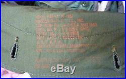Quality Genuine vintage Korean war M1951 Fishtail parka, liner &hood, M51, Small