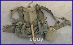 R. O. K. South Korean Military / US Korean War era WW2 style M-1945 Backpack USED