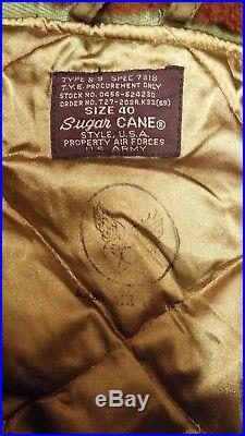 RARE 1940'S WW2 Korean War USAAF Sugar Cane B-9 Repro Parka Jacket US Military