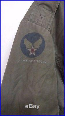 RARE 1940S WW2 Korean War USAF B-11 FLIGHT JACKET PARKA COAT US Military Uniform