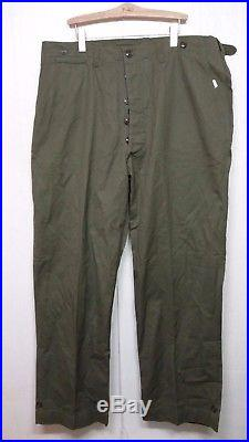 RARE 1945 Vintage WW2 Korean War US Army M-1943 Pants Trousers Military Clothes