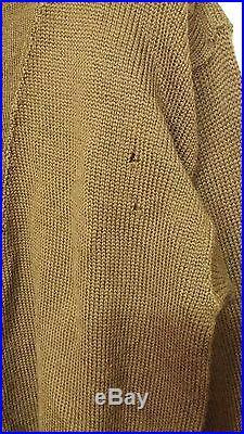 RARE 1950'S Korean War US Army High Neck Sweater Jacket Military Clothes Uniform