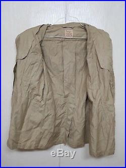 RARE 1950'S Korean War USAF Summer Tropical Bush Jacket US Air Military Clothes