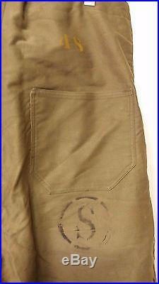 RARE 40'S Vintage WW2 Korean War US NAVY Deck Pants Trousers US Military Clothes