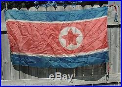 Rare Korean War North Korea Flag Captured By Us Soldier