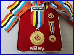 RARE KOREAN WAR VETERAN MEDAL Mini Order Badge With Case Korea Military Insignia
