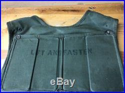 RARE Korean War Era T64 Soldiers Armor Vest Size Medium