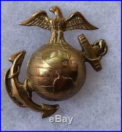 RARE Korean War Theater Made USMC Marine EGA Pin Badge D. Snyder Collection