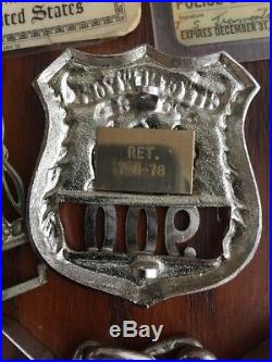 RARE Obsolete NYPD Police Badge Set Handcuffs, NYPD ID & Korean War Army ID