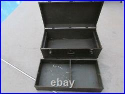 RARE Original U. S. WW2 /Korean war Army Military Foot Locker Trunk, ID. D