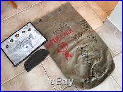 RARE USMC Korean War Chosin Reservoir, Canvas Bag Trench Art & Garrison Cover
