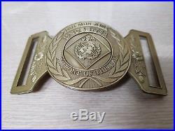 RARE! Vintage Original UNCSB-JSA BUCKLE DMZ US Army Military Belt Korean War