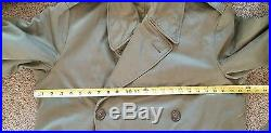 RARE WW2 Korean War US ARMY Officer Trench Coat Liner US Military Jacket Uniform
