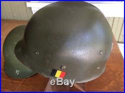 REDUCED Korean War Era US Helmet Front Seam Swivel Bail ABL Liner EXC