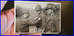 ROK South Korea Officers Photo Korean War Medal Award Helmet Insignia Camo Net