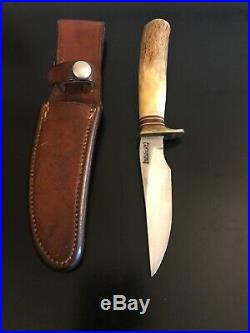Randall Knife 8-4 Stag-5 Thick Spacers-Original Sheath-1950s Korean War Era