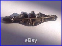 Rare 1950 Korean War US Navy Submarine Sterling Vanguard NY Pin The Real Deal