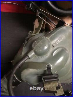 Rare 1950s korean War US Navy Fighter Pilots Helmet Golden Dragons H3-H4. Nice