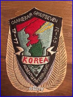 Rare 1951 Korean War Patch Large Aircraft Carrier Air Group 7 TF-77 CV-31