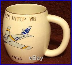Rare 1954 Korean War Air Force 16th 51st Fighter Interceptor Squadron Wing Mug