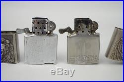 Rare 2 Vintage Korean War Air Force Pilots Sterling Silver Lighters White Tigers