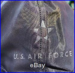 Rare Blue Korean War USAF Flight Jacket N-2A with Attached Hood, Large
