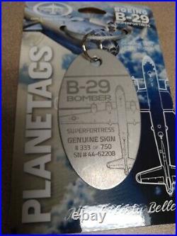 Rare! Boeing B-29 Planetag / Plane Tag Korean War Vet! Nice twist