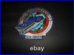 Rare Genune Korean War Uss Kearsarge Cva-33 Task Force 77 Far East Embroid Patch