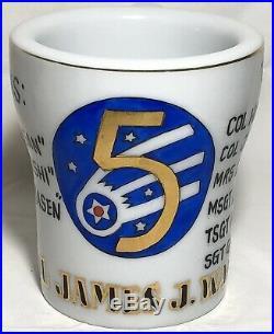 Rare Korean War 5th Fighter Bomber Squadron Aviator Crew Coffee Mug The VR6