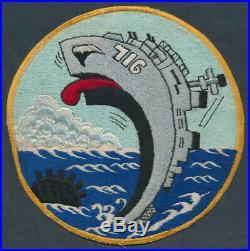 Rare Korean War 8 Patch USS WILTSIE DD-716 US Navy Destroyer, Japan Made