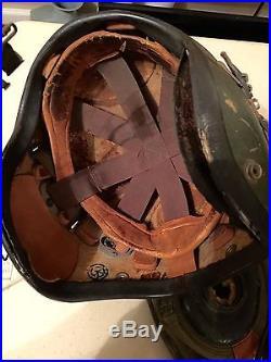 Rare Korean War Gentex H-4 Fighter Pilot Helmet Navy Marines Polaroid Goggles