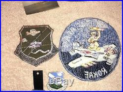 Rare Korean War USAF 6146 AFAG Squadron Patch Lot Theater Made Cigarette Case