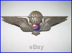 Rare Korean War United Nations Partisan Force Korea Agents Badge Numbered-166