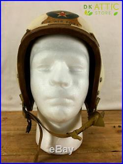 Rare US Air Force P-1B Flight Helmet Size Small MFG MIL-H-8003 Korean War 1950s