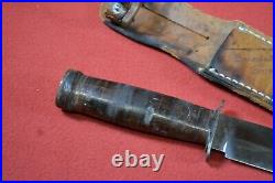 Rare US Korean War Era Sanssouchi D. R. Military Fighting Knife & Original Sheath