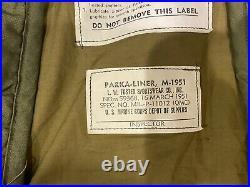 Rare USMC M1951 FISHTAIL PARKA FRIEZE LINER MEDIUM Korean War Marine Corps