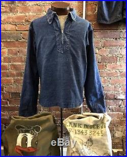 Rare USN Denim Pullover WWII Korean War
