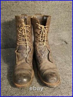 Rare Usmc Tall Rough Out Boots Raider Para Marine Korean War Era M1951
