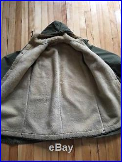 Rare Vintage Us Army M47 M-1947 Parka Overcoat With Liner Ww2 Korean War