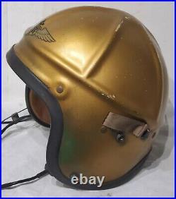Rare Vtg Korean War Navy Genex H-4 Pilot Helmet With Liner Named