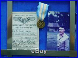 Rare WWII Korean War Vietnam US Pilot Wings Medal Patch Group Lot Named Colonel