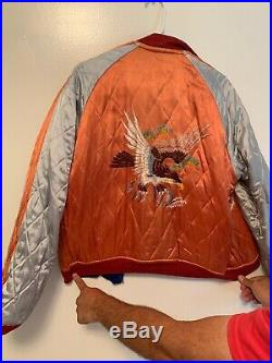 Reversible Korean War Souvenir Silk Jacket Size Medium