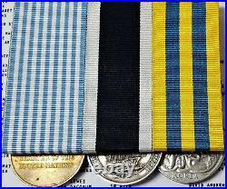 Royal Navy Korea War & Long Service Medal Group To P. O Lovett. H. M. S. Tumult