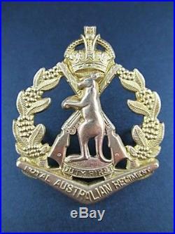 SCARCE KOREAN WAR 1950's KINGS CROWN RAR ROYAL AUSTRALIAN REGIMENT SKIPPY BADGE