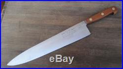 SUPERB Vintage ONTARIO Korean War-Era US Army Chef's XXL Chef Knife dated 1953